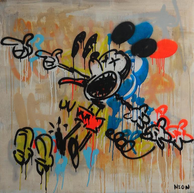 Obras de Neon Caro mickey