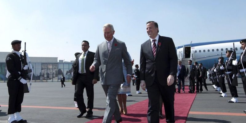 Visitas de la realeza a México Príncipe Carlos