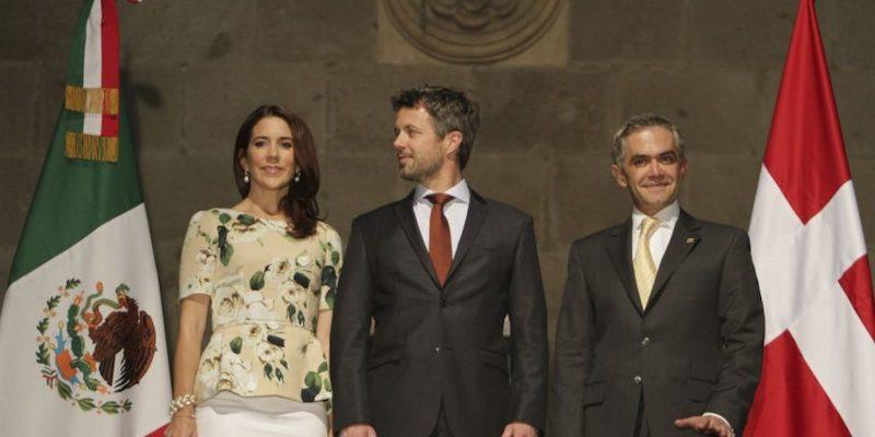 Visitas de la realeza a México Príncipes de Dinamarca