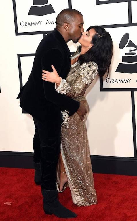 Fotos de Kim Kardashian y Kanye West Grammy