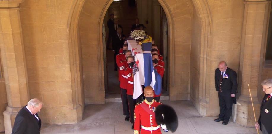 Funeral Felipe de Edimburgo ataúd