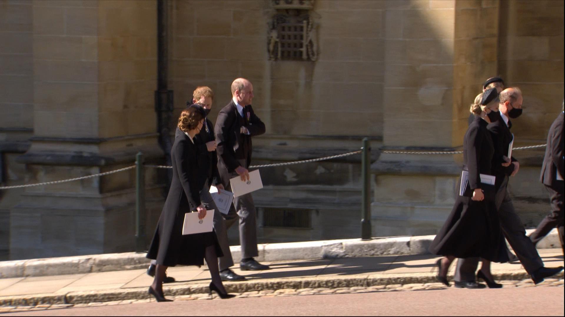 Funeral Felipe de Edimburgo Hermanos William Harry