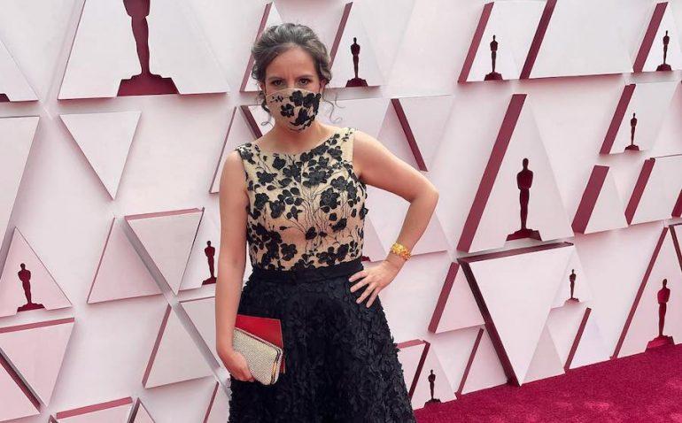 Mexicana nominada Oscar 2021 Michelle Coutollenc red carpet