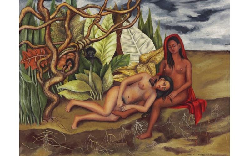 Obras de arte mexicanas más caras dos desnudos en el bosque