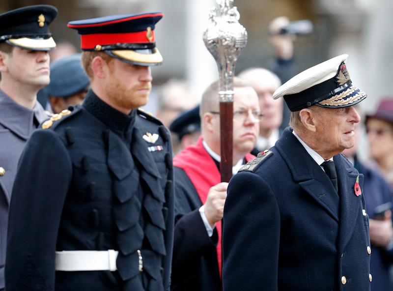 Parecido entre el príncipe Harry y el príncipe Felipe