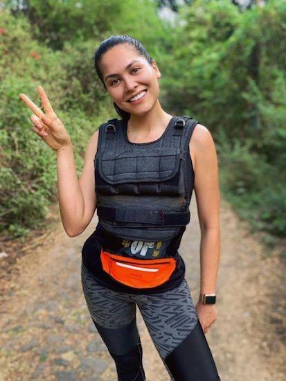 Andrea Meza corriendo