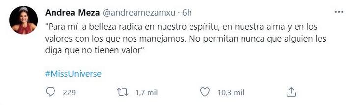 Andrea Meza Twitter