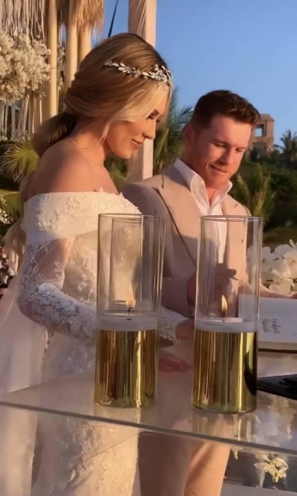 Canelo y Fernanda boda