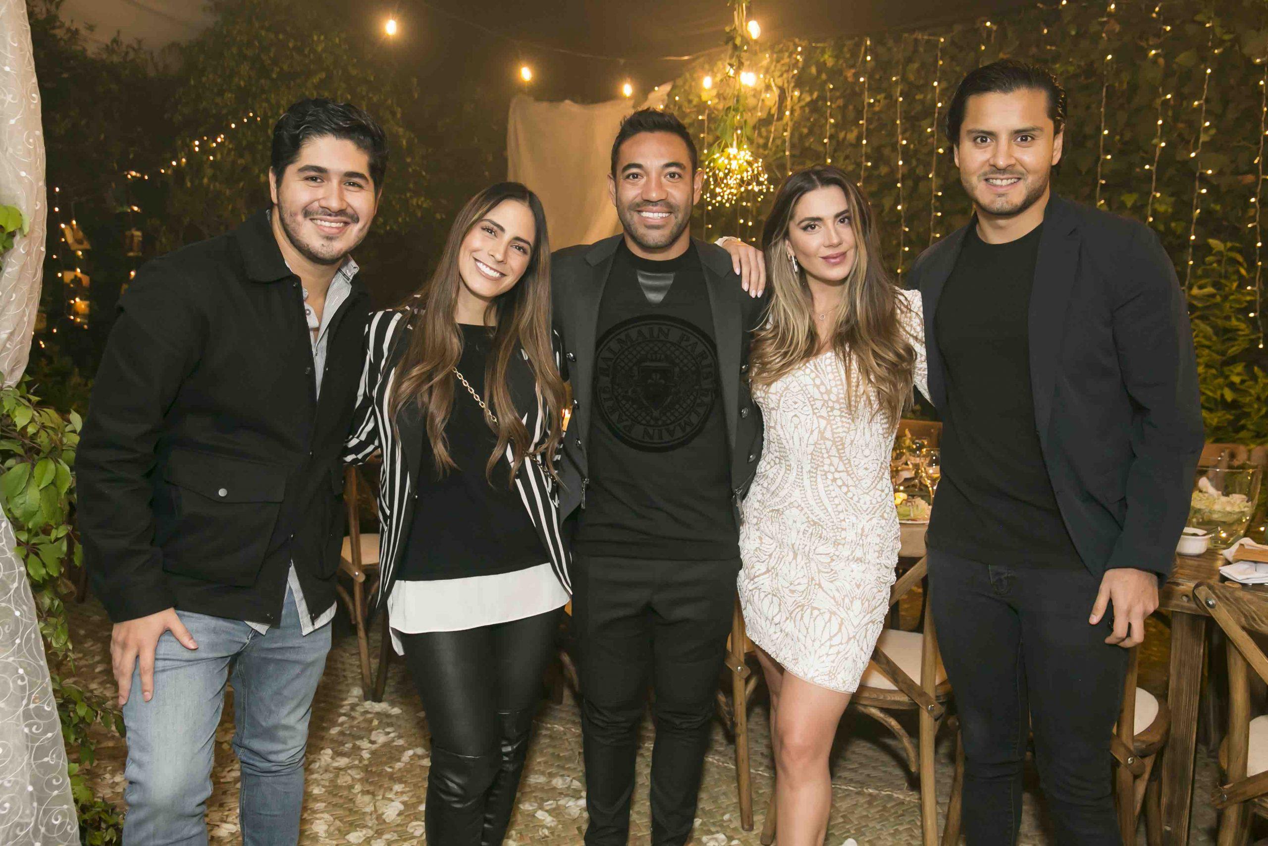 Alberto Martínez, Valeria Marin, Marco Fabián, Kristel-Fabre y Pablo Sandoval