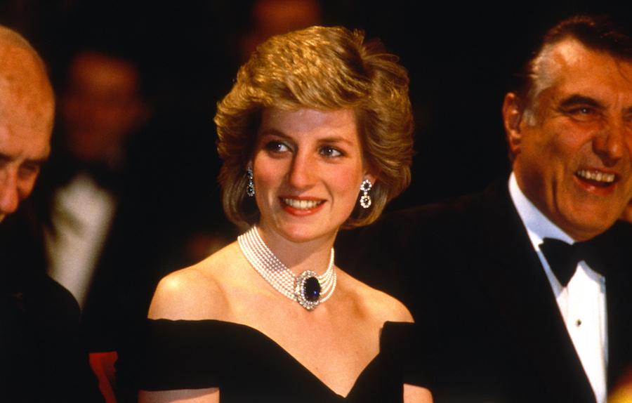 Joyería zafiros princesa diana choker en los 80