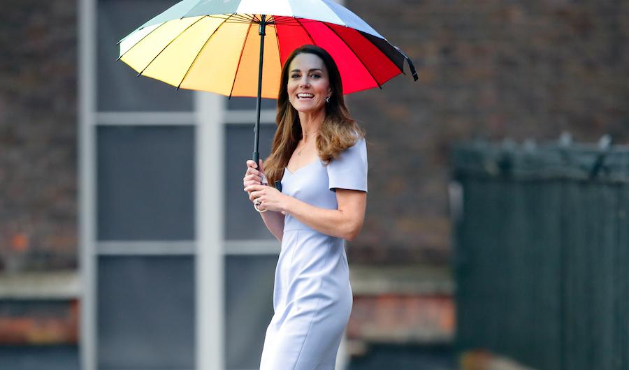 Kate Middleton vestido morado