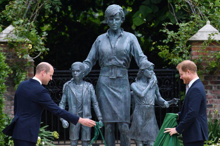 estatua de la princesa Diana