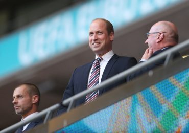 príncipe William festeja el pase de Inglaterra