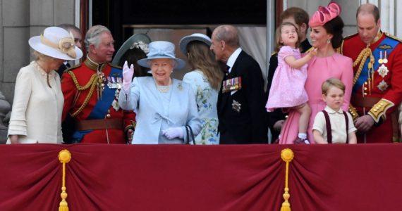 La familia real británica en el cumpleaños de la reina Isabel II